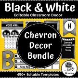 Black and White Classroom Decor   Chevron   Bulletin Board Letters   Templates