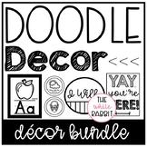 Black and White Classroom Decor Doodle Set