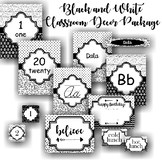 Black and White Classroom Decor Package