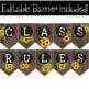 Farmhouse Classroom Decor Rules Editable