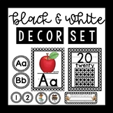 Black and White Classroom Decor Set