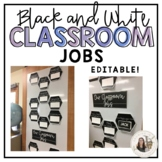 Black and White Classroom Job Display
