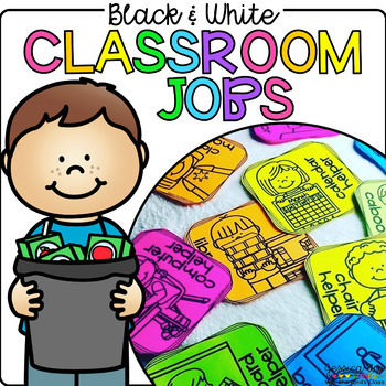 Black and White Classroom Jobs