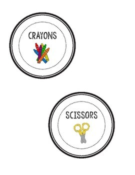 Black and White Classroom Labels!!!
