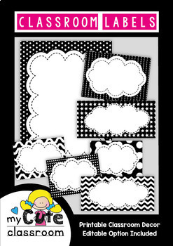Black and White Classroom Labels {Classroom Decor}