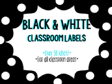 Black and White Classroom Labels