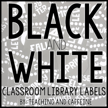 Black and White Classroom Library Labels