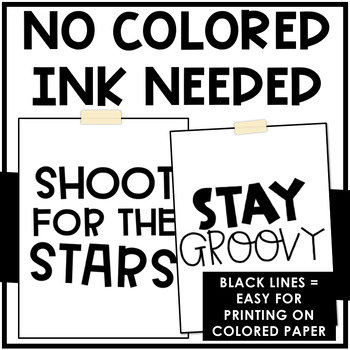 Black and White Motivational Poster Set