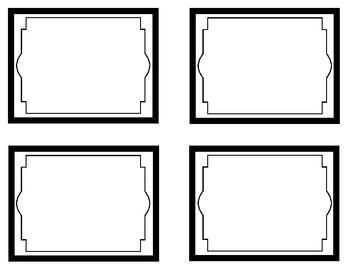 Black and White Classroom Printable Decor