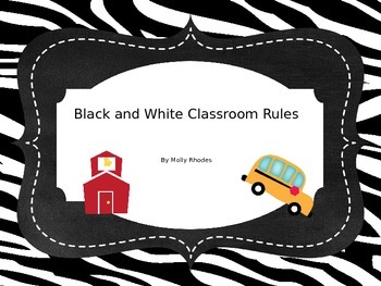 Black and White Classroom Rules