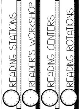 Black and White Classroom Schedule Cards