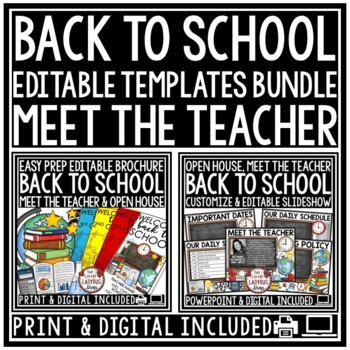 Back To School PowerPoint for Open House and Meet The Teacher Template