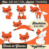Cute Hipster Red Fox Clipart for Teachers