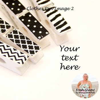 Black and White Clothes Pin Image 2