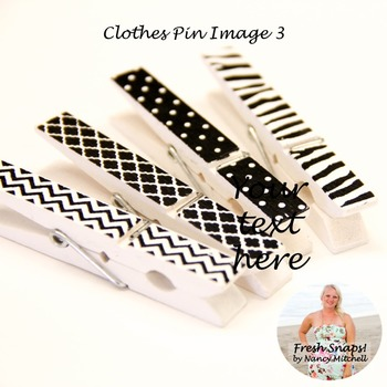 Black and White Clothes Pin Image 3