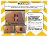 A Sunday School Easter Resurrection Tomb Craft Set with Jesus {religious}