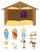 A Sunday School Christmas Nativity Craft Set to color or create {Religious}