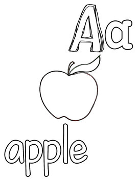 Black and White Coloring Alphabet Flashcards or Posters - Always FREE