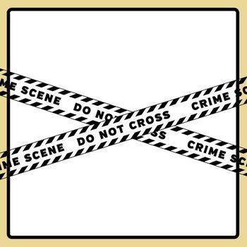 Black and White Crime Scene Tape - CSI Theme Clip Art Set Commercial Use