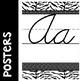 Black and White Cursive Alphabet Posters