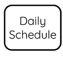 Black and White Daily Schedule Cards