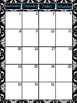 Black and White Damask 2018-2019 School Year Calendar