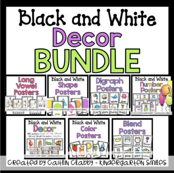 Black and White Decor BUNDLE