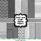 Black and White Digital Mini Paper Pack - Graphics for Teachers