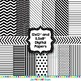 Black and White Digital Mini Paper and Clip Art Pack