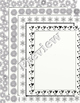Black and White Digital Paper Borders!  Variety!