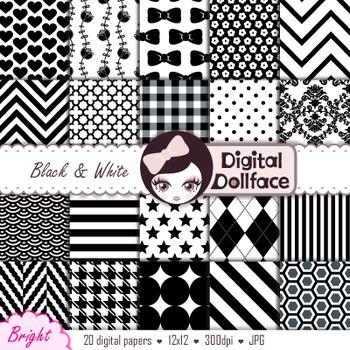 Digital Paper -Black and White