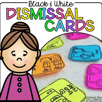 Black and White Dismissal Cards