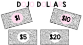 Black and White Dojo Dollars for Class Economy and Wallet