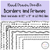 Black and White Doodle Borders and Frames ☆ Worksheets and
