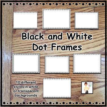 Black and White Dot Frames