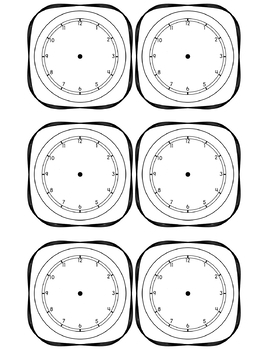 Black and White *EDITABLE* Daily Schedule Cards with Clocks