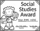 Black and White Editable Awards:  End of Year Certificates