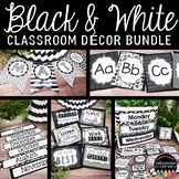 Black and White Editable Classroom Decor