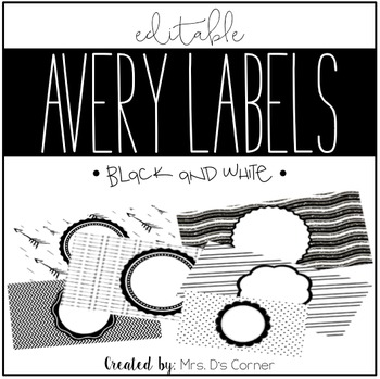 black and white editable classroom labels 2x4 avery label 8163