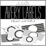 Black and White Editable Classroom Labels 2x4 { Avery Labe