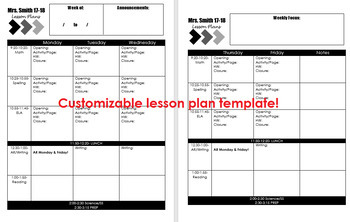 Black and White Editable Customizable Ultimate Teacher Binder