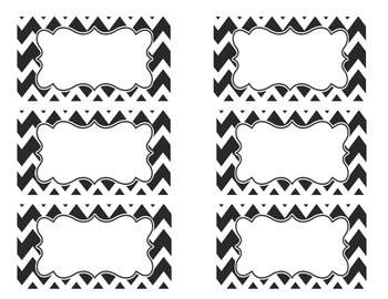 Black And White Editable Labels Updated 2014