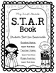 Black and White Editable STAR Book/Binder