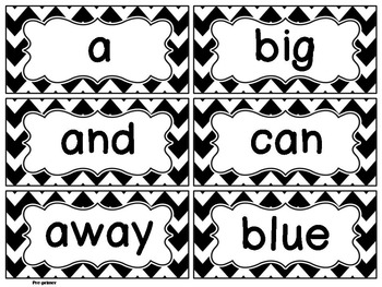 Black and White Editable Word Wall Cards