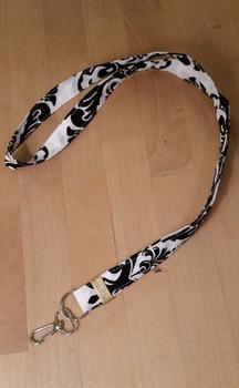 Lanyard - Fabric Black and White