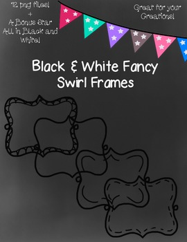 Black and White Fancy Swirl Frames