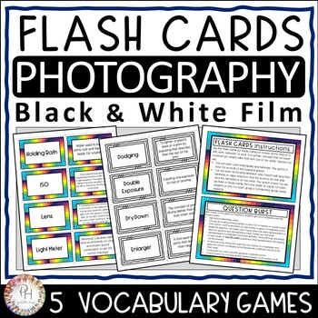 Photography Flash (Study) Cards and Vocabulary Games | Black and White Film