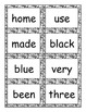 Black and White First Grade Sight Word Cards