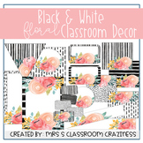 Black and White Floral Mini Classroom Decor