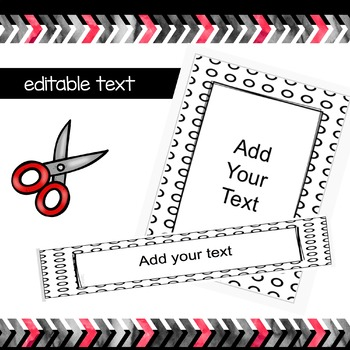 Black and White Folder Covers and Binder Labels